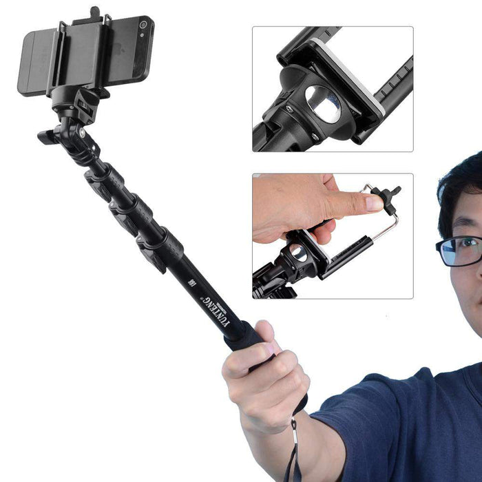 Yunteng 188 Selfie Stick Tripod Handheld Extendable Monopod Upgraded Version P0015971 Free Shipping - successmall