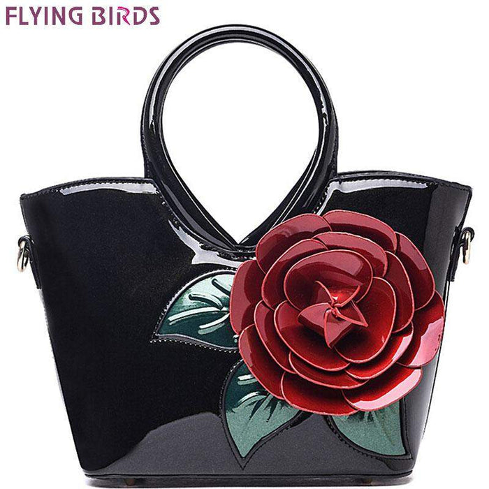 FLYING BIRDS! women handbag elegant women leather handbags retro shoulder bags bolsas famous brands flower women's bag LM3027fb - successmall