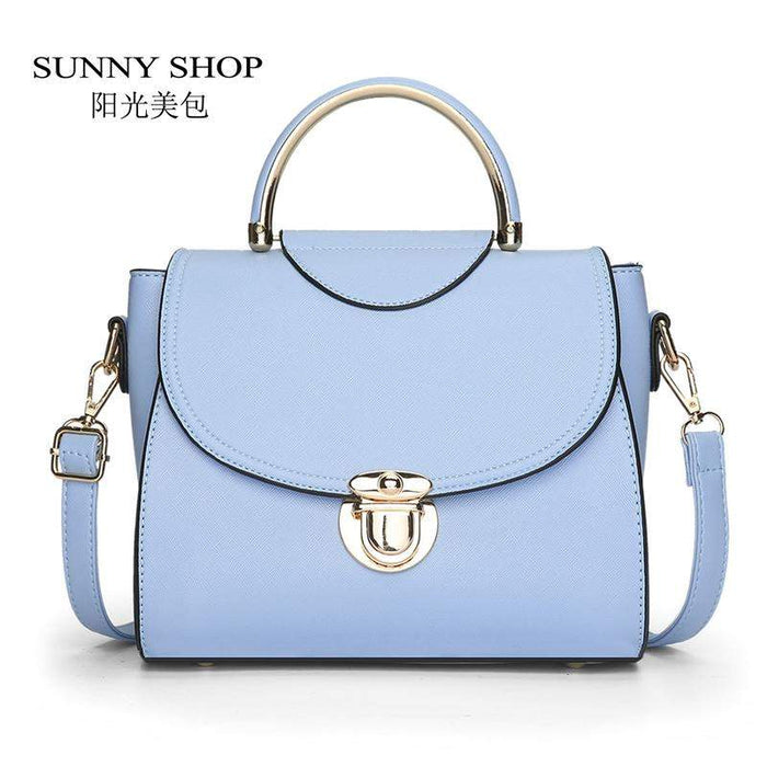 SUNNY SHOP New Candy Color Fashion Women Shoulder Bags Lady Messenger Bags Brand Designer Crossbody Bag PU Leather Handbags - successmall