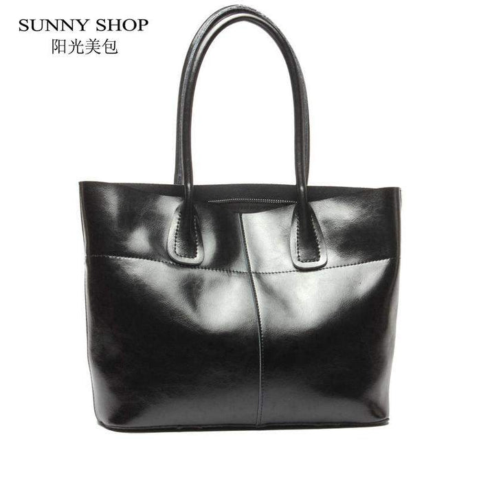 SUNNY SHOP Luxury Handbags Women Bags Designer American Women Bag Women Real Leather Handbags Cow Leather Nature Skin Bag - successmall