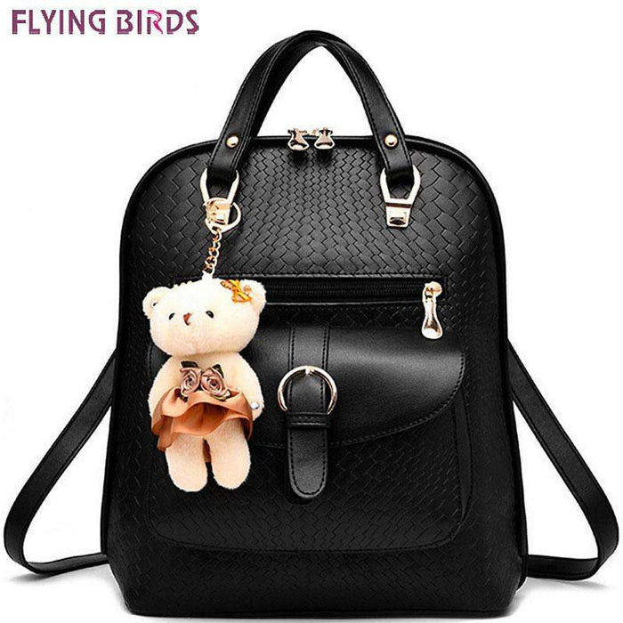 FLYING BIRDS! 2016 new Mochila backpack women leather backpack school bags pouch travel bag high quality rucksack pouch LS8370fb
