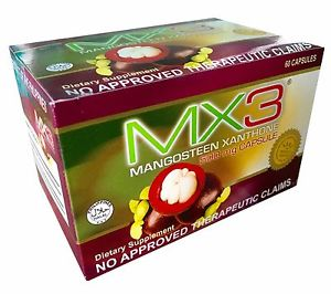 <p>Rebate Points = 1.31   <br /></p> MX3 Mangosteen Xanthone Dietary Supplement 500mg 60 Capsules - successmall