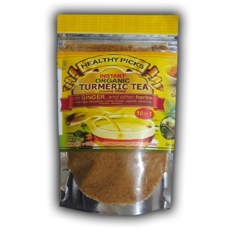 <p>Rebate Points = .07<br/></p>Healthy Picks Instant Organic Turmeric Tea 100 grams stand pouch