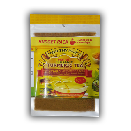 <p>Rebate Points = .02<br/></p>Healthy Picks Instant Organic Tumeric Tea 50 grams stand pouch