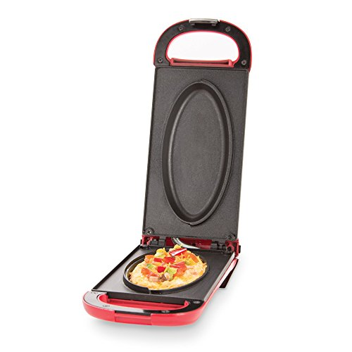 Dash Omelette Maker with Dual Non Stick Plates - Perfect for Eggs, Frittatas, Paninis, Pizza Pockets & Other Breakfast, Lunch, and Dinner Options - Red - successmall