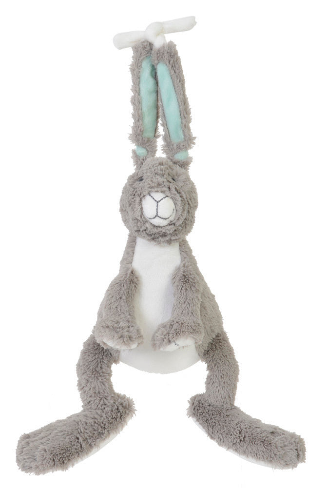 Toy Grey & Mint Rabbit musical