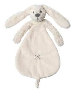 TOY - Richie Rabbit blankie - ivory/pink/deep blue - Little Lumps