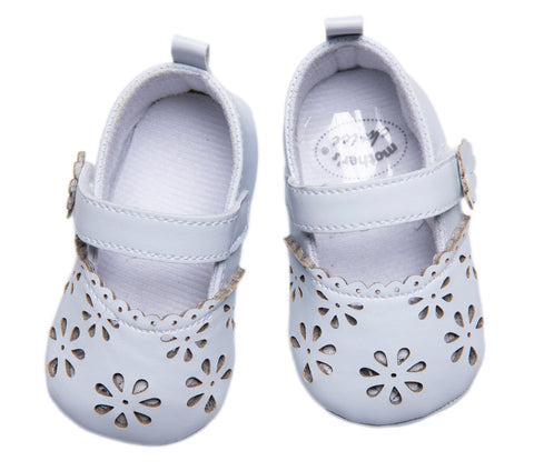 Baby White Flower Shoes