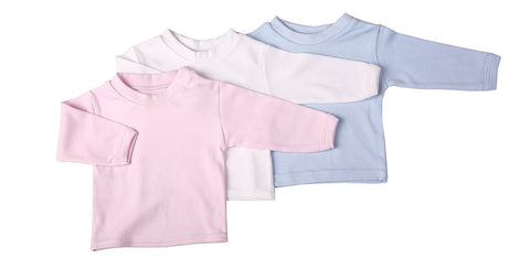 Blank Long-Sleeved Baby Crew Neck T-Shirts – 2-Pack Or 6-Pack - Little Lumps Baby Clothing Online