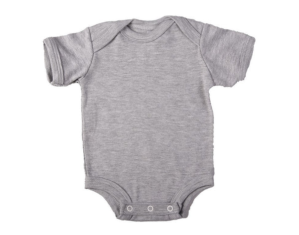 Baby Blanks - Onesie short sleeve (2 or 6 Pack)Pink,Blue, White, Grey, Black - Little Lumps Baby Clothing Online