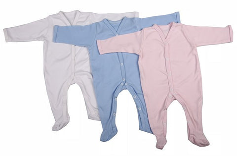 2-Pack 100% Cotton Mixed Colours Blank Babygro Sets - Little Lumps