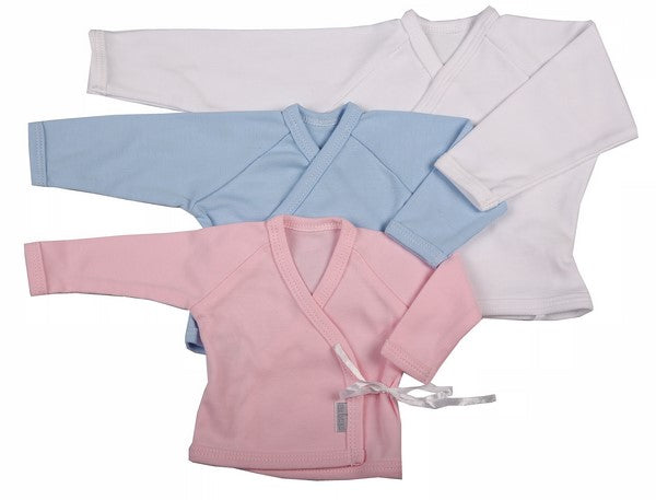 100% Cotton 2-Pack Crossover Baby Cardigan In Mixed Blank Colours - Little Lumps