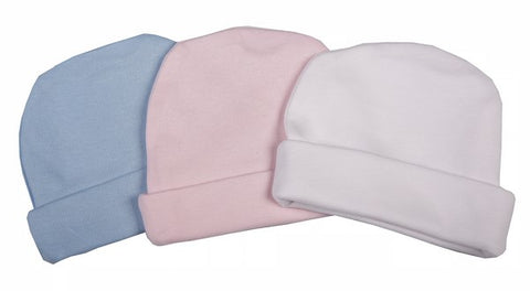 Double-Layered 100% Cotton Blank Baby Beanie Mixed Colours - Little Lumps