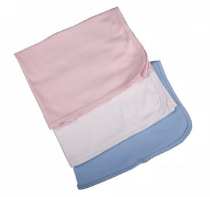 Baby Blankets Made From 100% Cotton Blank Coloured Fabric -2 Pack - Little Lumps