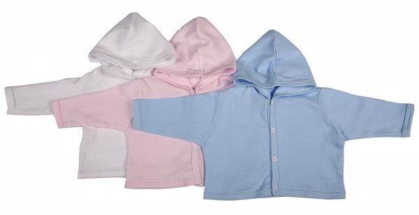 100% Cotton Button-Up Baby Hooded Jackets 2-Pack Mixed Colours - Little Lumps