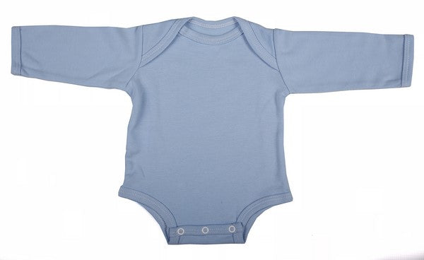 Blank Long-Sleeved Baby Onesies With Envelope Neck  (6-Pack) - Little Lumps
