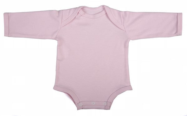 2-Pack Blank Long-Sleeved Baby Onesies With Envelope Neckline - Little Lumps