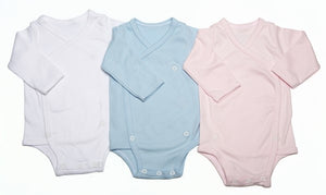 Baby Crossover Button-Up Onesie With Long Sleeves - Little Lumps