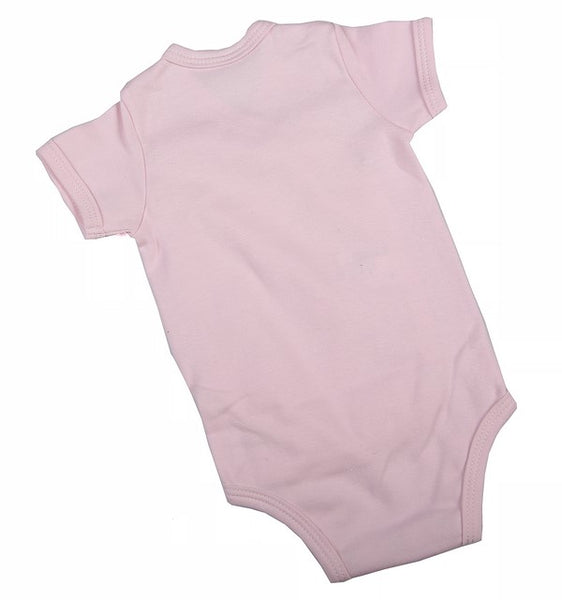Plain-Coloured Crossover Baby Onesie With Short Sleeves (6 Pack) - Little Lumps