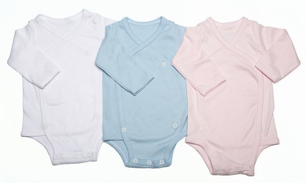 2-Pack Long-Sleeved Crossover Button-Up Onesies Mixed Colours - Little Lumps