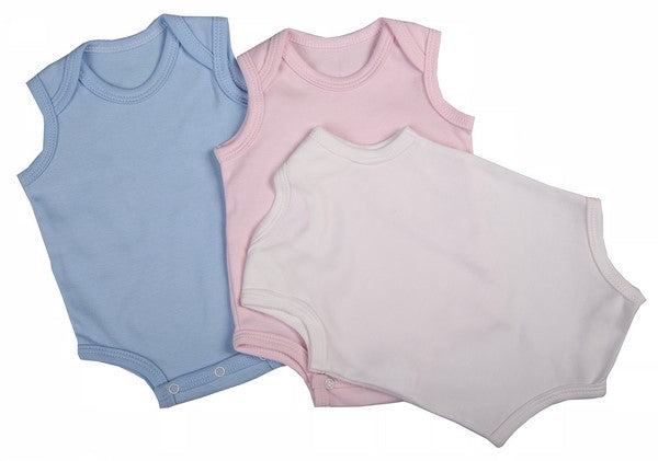Baby Blanks - Sleeveless Onesie ( 2 Pack mixed colours ) - Little Lumps Baby Clothing Online