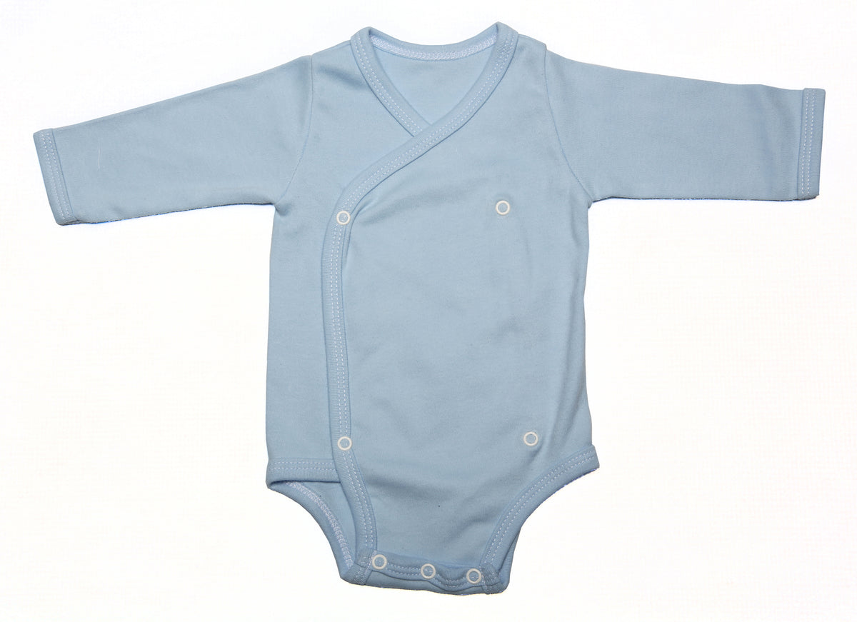 1648b96d1 2-Pack Long-Sleeved Crossover Button-Up Onesies Mixed Colours ...