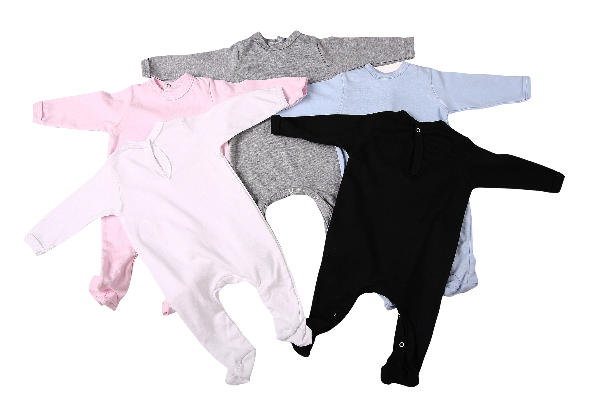 2-Pack Back-Fastening Blank Babygros Made From 100% Cotton - Little Lumps