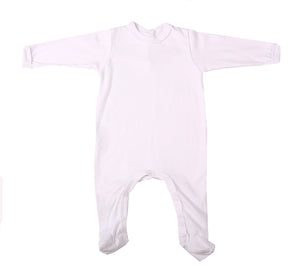 100% Cotton Infant back neck opening Babygro - Little Lumps
