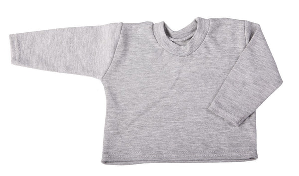 Blank 2 pack Baby Crew-Neck T-Shirts With Long Sleeves Mixed Colours - Little Lumps