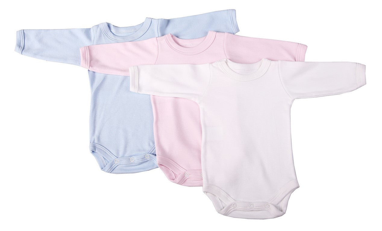 Mixed-Colour Blank Long-Sleeved Crew Neck Baby Onesies – Little Lumps