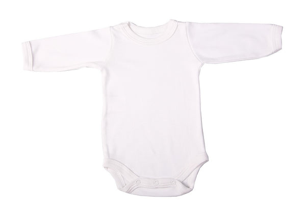100% Cotton Mixed-Colours Baby Blank Long-Sleeved Crew Neck Onesies (2 Pack) - Little Lumps