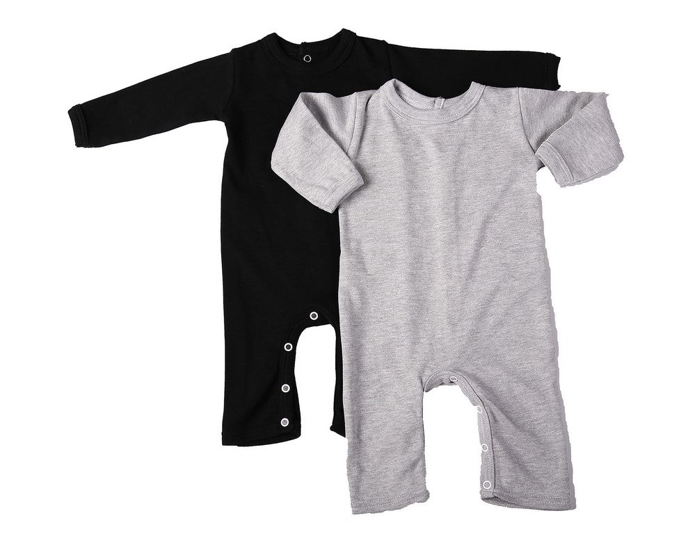 2-Pack Of Blank Footless Babygros Made From 100% Cotton - Little Lumps