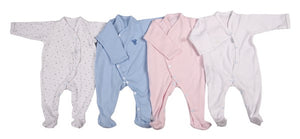 Long-Sleeved Babygro With Overlap Front Fastener - Little Lumps Baby Clothing Online
