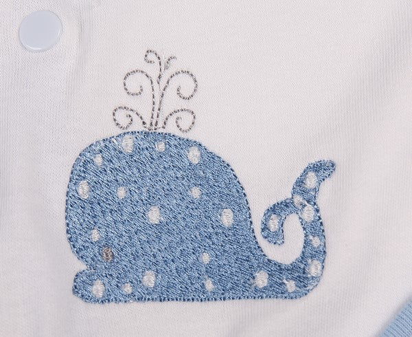 Two Pack Babygro with Bib for Boys - Little Lumps Baby Clothing Online