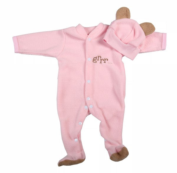 Polar Fleece Baby Bear Suit And Hat - Little Lumps