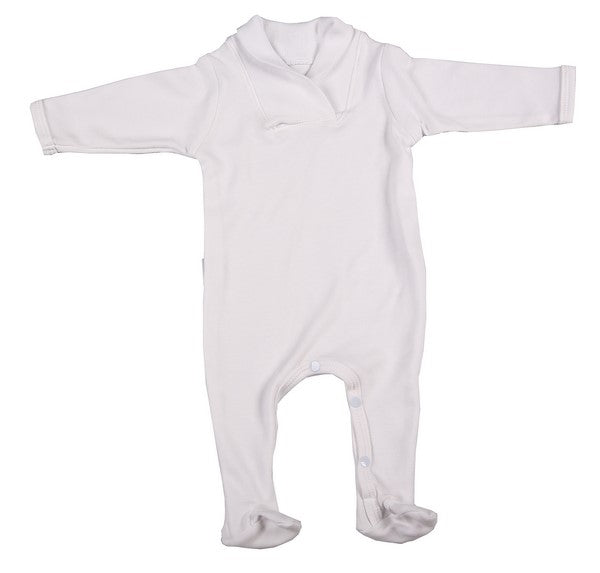 High Quality Babygro With Crossover Collar - Little Lumps