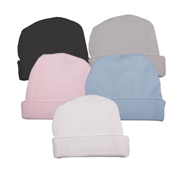 Plain Coloured Baby Beanies Made From Soft 100% Cotton - Little Lumps