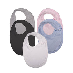 100% Cotton Blank Baby Bibs 12-Pack In Multiple Colours - Little Lumps