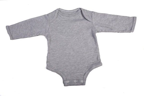 Long-Sleeved Baby Onesie With Envelope Neck - Little Lumps