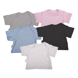 Blank Baby Short Sleeve T-Shirts With Envelope Neckline (2 Pack mixed colours) - Little Lumps Baby Clothing Online