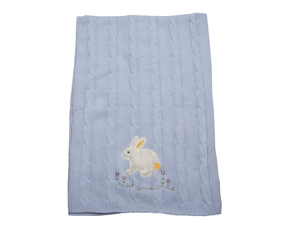 Blanket - knitted with embroidery - Little Lumps Baby Clothing Online