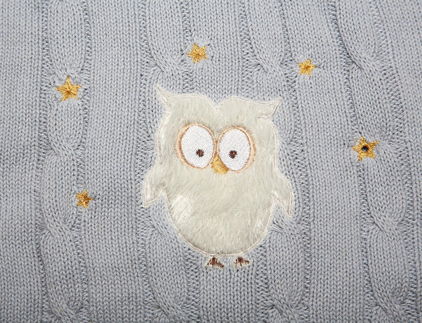 Baby Blanket - knitted with embroidery - Little Lumps