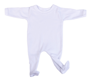 2-Pack Buttonless Blank Babygros Made From 100% Cotton - Little Lumps