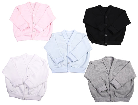 Long Sleeved Baby Cardigans  (2 Pack mixed colours) - Little Lumps Baby Clothing Online