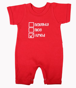 Christmas Baby Red Romper - Little Lumps