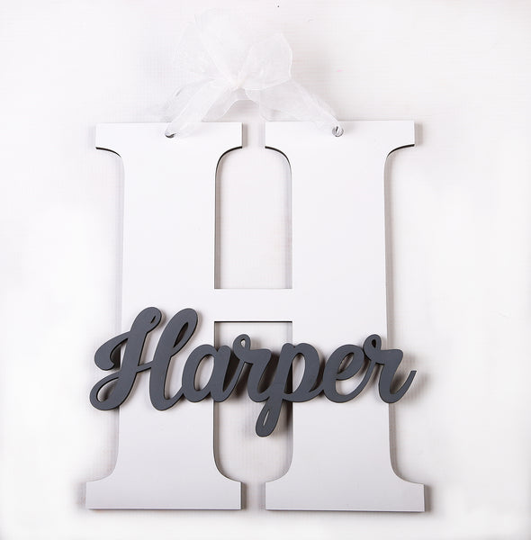 Sign- Name with Initial - Little Lumps Baby Clothing Online