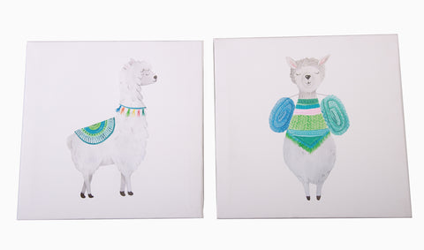 Canvas Pictures - Llamas - Little Lumps