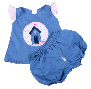 Baby Denim Dress - Little Lumps
