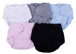 100 % Cotton Baby Blank Diaper Covers (6pk) - Little Lumps