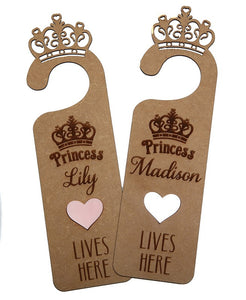 Personalised Princess door hanger - Little Lumps Baby Clothing Online